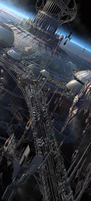 Digital Panting / Concept Art / Landscape / City / SciFi / Science Fiction / Other Planet / Future / Surreal / Mystic / Fantasy // ♥ More at: https://www.pinterest.com/lDarkWonderland/