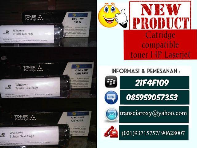 refill tinta & toner printer inkjet laserjet Canon,Hp,Epson,Brather,Samsung,Panasonik,Xerox: catridge siap pakai