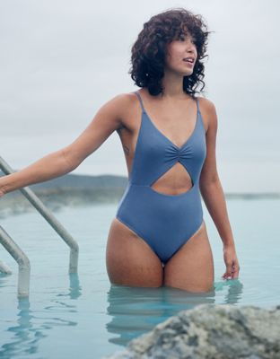 95d4e287abb Aerie Cutout Voop One Piece Swimsuit by American Eagle Outfitters | One  piece, love