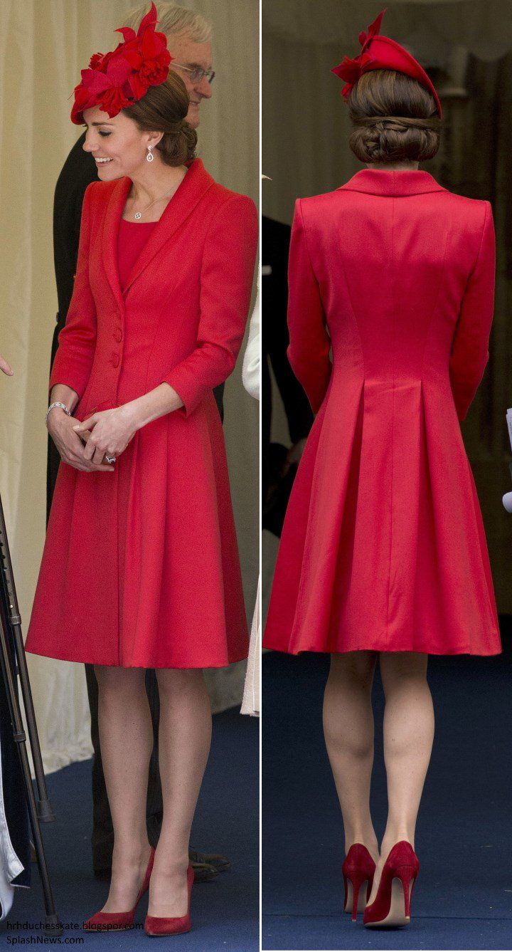 The Duchess is Chic in @CatwalkerCo & Wedding Earrings for Garter Day