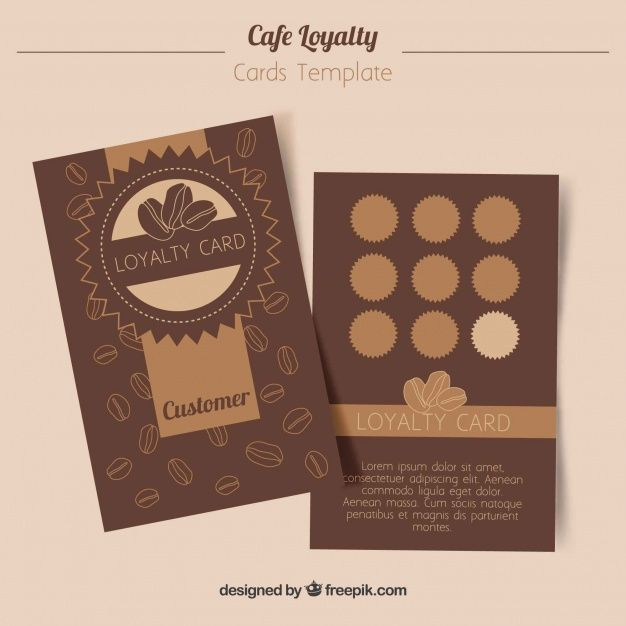 Loyalty Card Template With Coffee Coupons Loyalty Card Template Card Template Customer Loyalty Cards