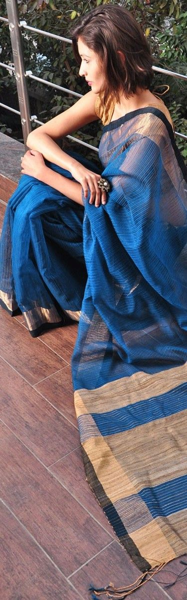 Cotton and silk saree - traditional drapes by Vaya and Bai Lou - original pin by @webjournal