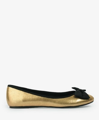 20 metallic bow flats from