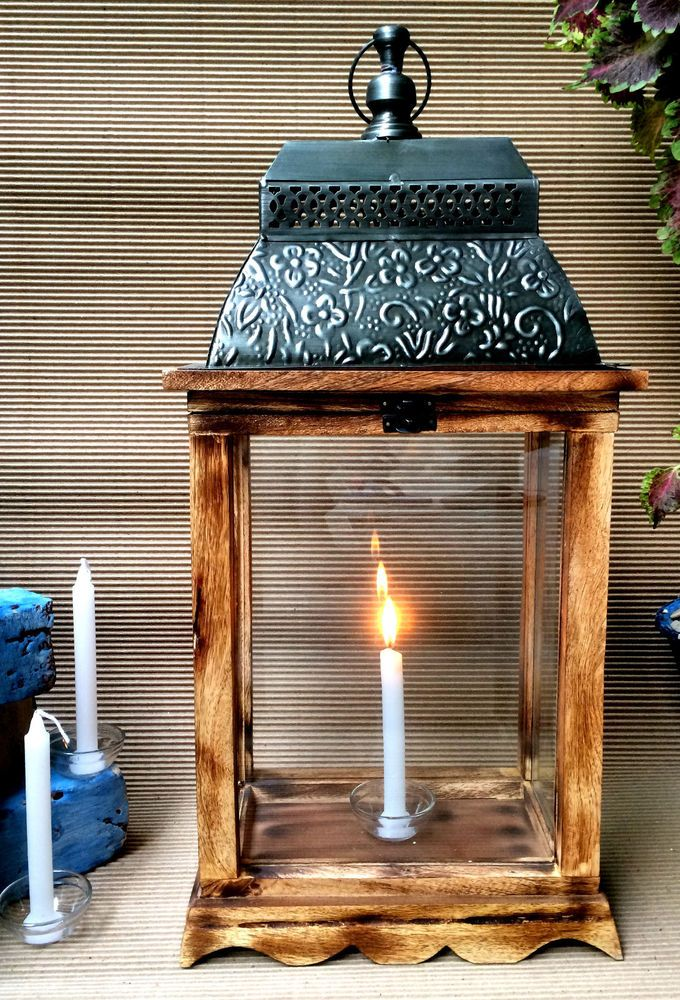 Gorgeous Rustic Wooden Lantern. Table or hanging. #homedecor #bohostyle #farmstyle  #Moroccan *aff*