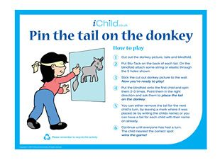 Pin The Tail On Donkey Party Game Partyramacouk