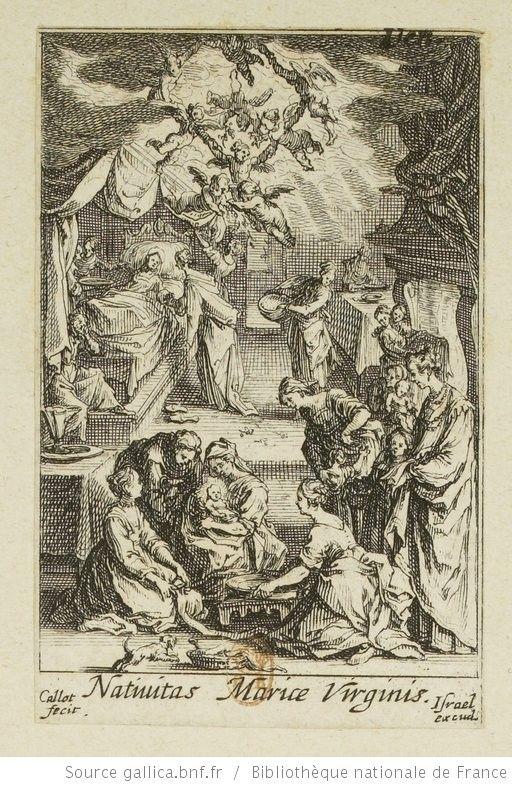 [La vie de la Sainte Vierge]. [1], [Naissance de la Vierge Marie] : [estampe] / Callot fecit. - 1