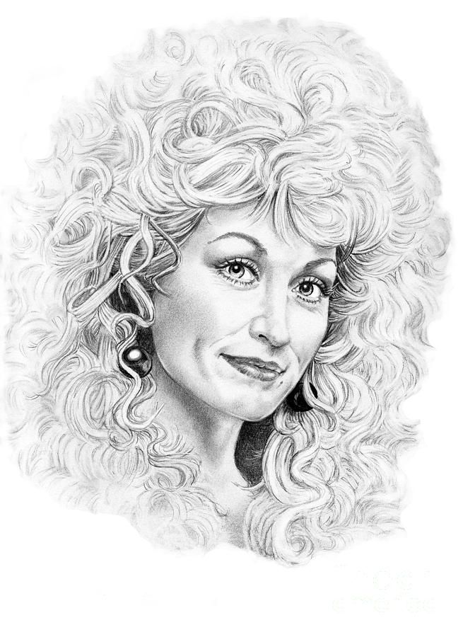 Dolly Parton by Murphy Elliott ~ traditional pencil art