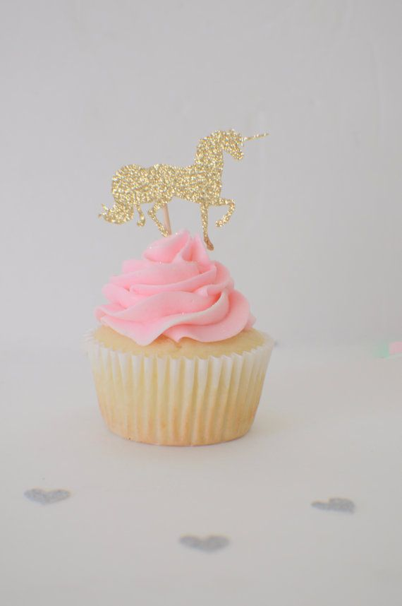 Unicorn cupcake toppers cupcake toppers unicorns by SmashCaked