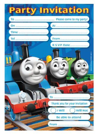 Amscan Thomas Tank Invites and Envelope: Amazon.co.uk: Toys & Games