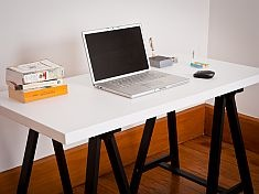 Mocka Trestle Desk - available with natural or white top, black or white legs www.mocka.co.nz