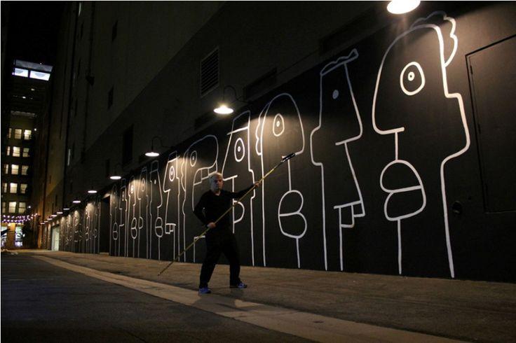 THIERRY NOIR: THE LA RETROSPECTIVE http://www.widewalls.ch/thierry-noir-los-angeles-retrospective-exhibition-2014/ #HowardGriffinGallery #ThierryNoir #exhibition #LA #contemporary #urbanart