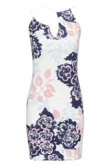 Floral Plunge neck Bodycon Dress
