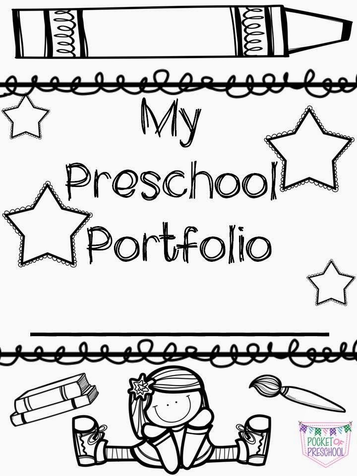 Portfolio covers for preschool, pre-k, or kindergarten student portfolios.  A boy version is also included.  Pocket of Preschool