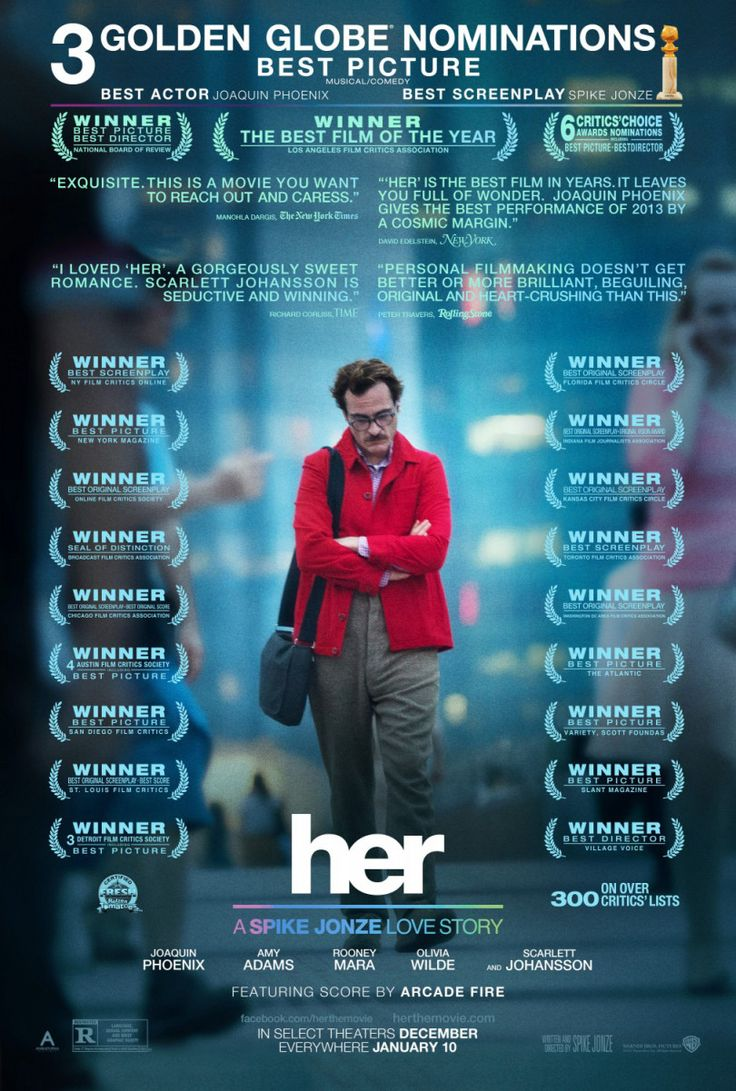 2013 DIRECTOR: Spike Jonze Spike Jonze is back, this time with a profoundly intriguing love story of our time. Playing with he notion that people have taken to hiding behind their Facebook profiles…