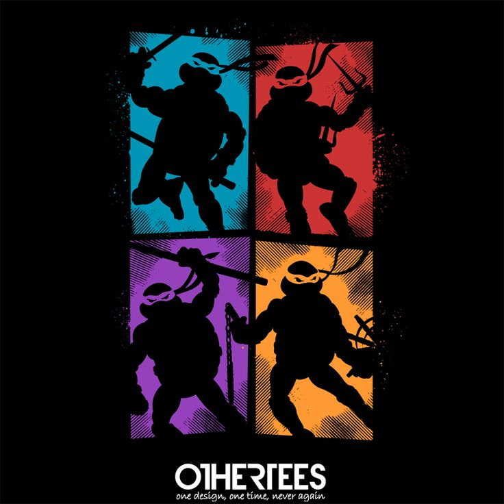 """Heroes"" by TomTrager Shirt on sale until 17 May on http://othertees.com #tmnt Pin it for a chance at a FREE TEE !"