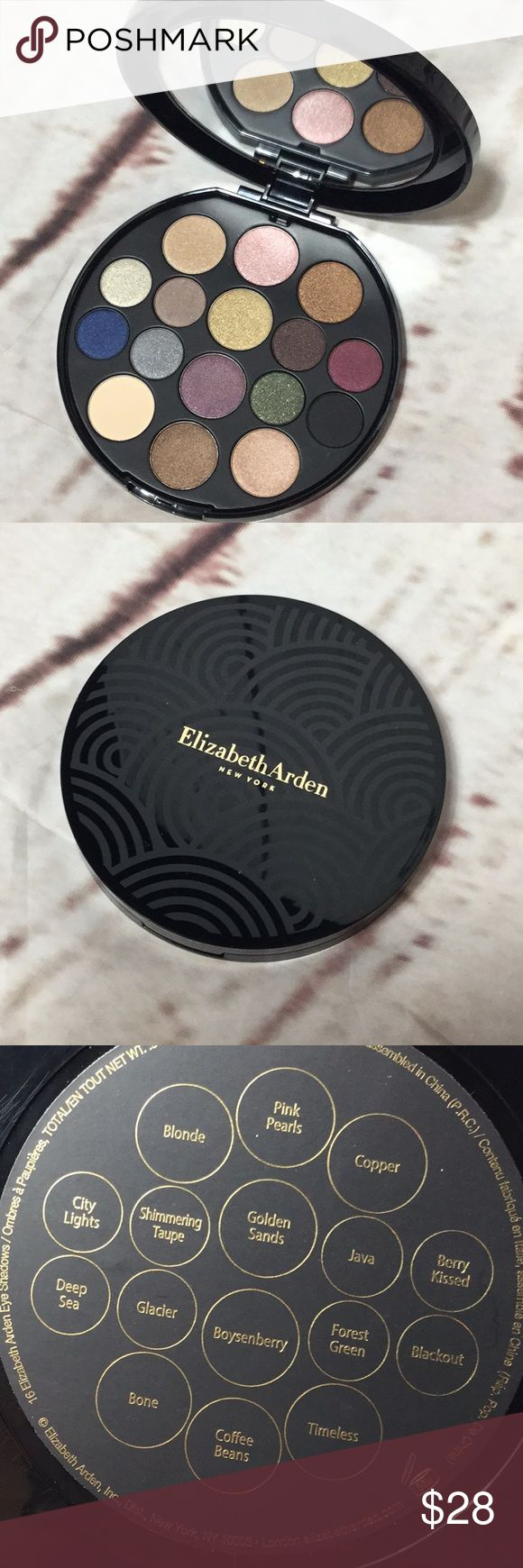 Elizabeth Arden eyeshadow palette never Used Elizabeth Arden eyeshadow palette never Used. Got this in a set for Christmas. I have a similar palette already. Offers welcome. Colors are so pretty names of them are in third pic. No box. Elizabeth Arden Makeup Eyeshadow