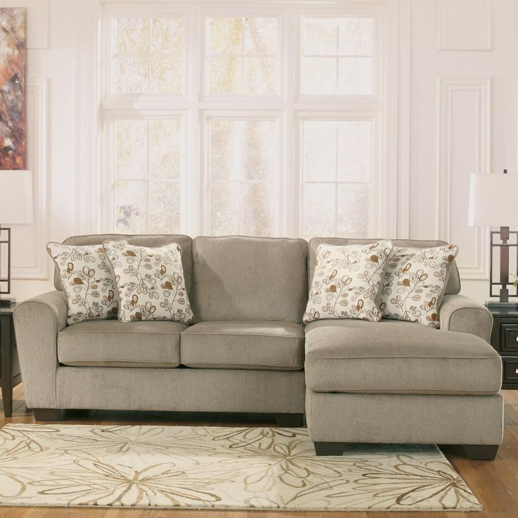 Patola park patina 2 piece sectional with right chaise for Ashley sectionals with chaise