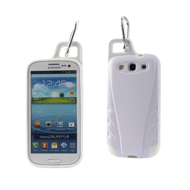 Reiko Samsung Galaxy S3 Dropproof Workout Hybrid Case With Hook In White