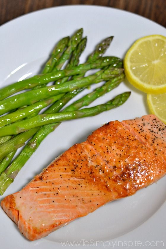 This simple and deliciously crispy pan seared salmon is a wonderful, healthy dinner for any night!