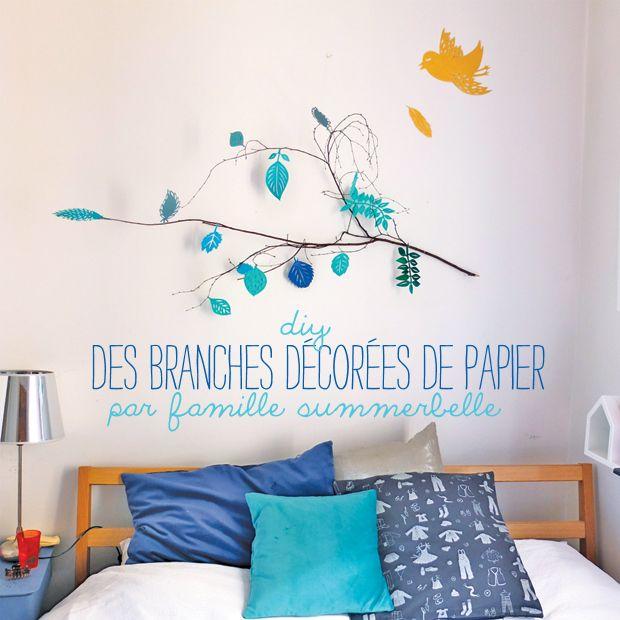 branches decorees papier