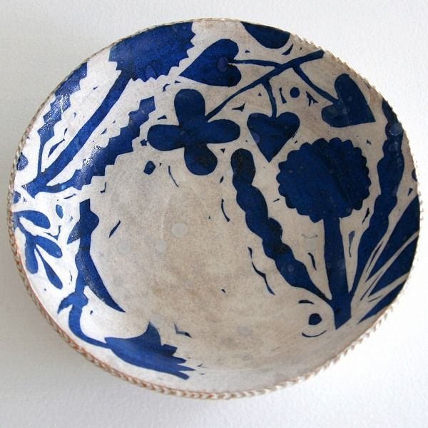 Simple blue and white floral bowl by Matilde.