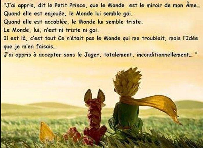 """""""J'ai appris, dit le Petit Prince, que le Monde est le miroir de mon âme..."""""""