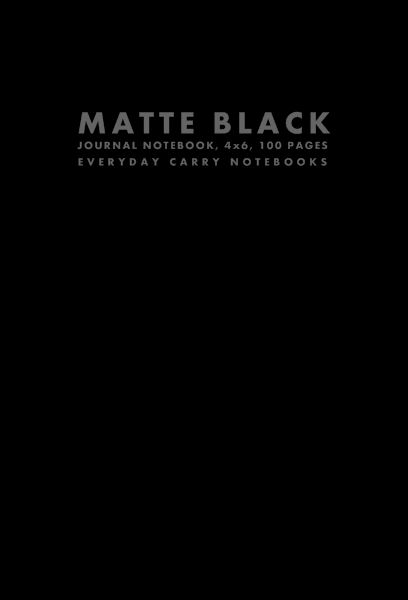 Matte Black Journal Notebook, 4x6, 100 Pages