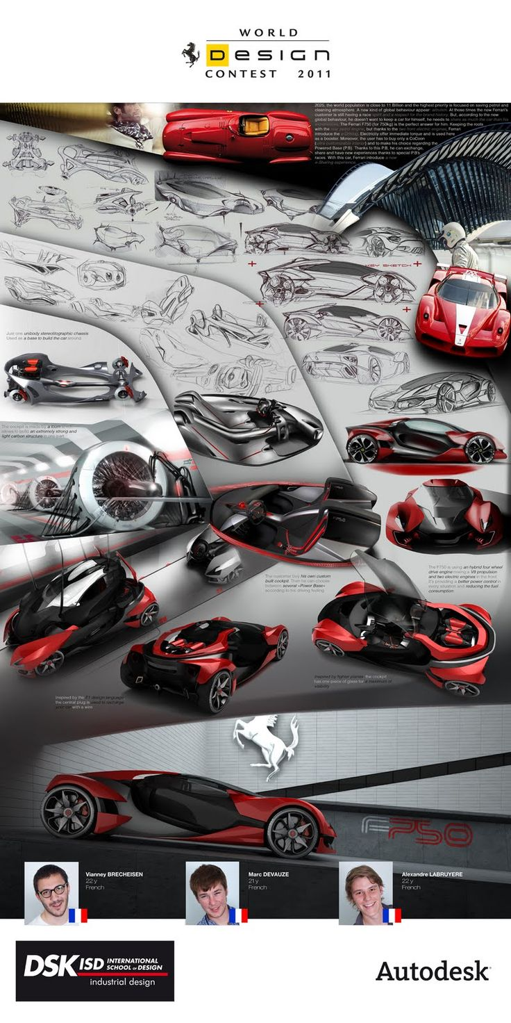 Love how the concept is presented: Ferrari F750 Automotive design contest