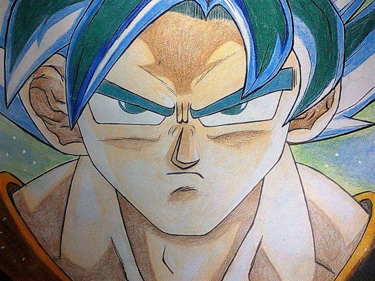 Goku Super Sayayin Dios Azul Para Colorear: GOKU SUPER SAYAYIN DIOS AZUL