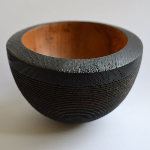 Spalted Beech Scorched Bowl - Folksy