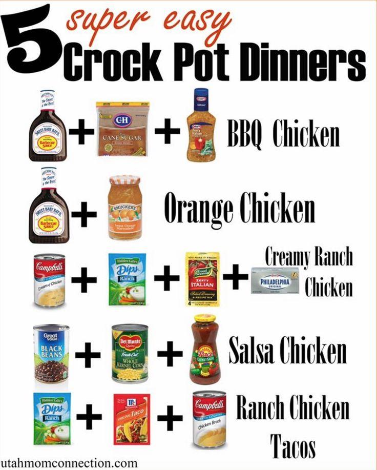 5 Super Easy Crock Pot Meals