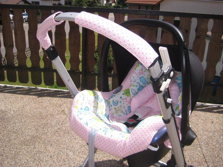 Bugaboo KInderwagen Schiebegriffbezug Punkte Rosa von me Kinderkleidung und ersatzbezuege auf DaWanda.com