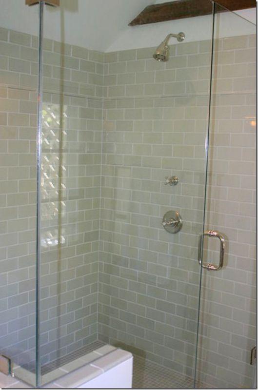 Tan Subway Tiles In The Shower Blissful Bathroom Ideas