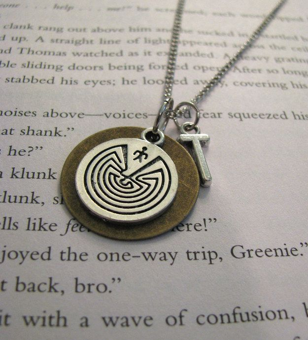 The Maze Runner necklace ($15). | 35 Impossibly Clever Pieces Of Jewelry Inspired By Books