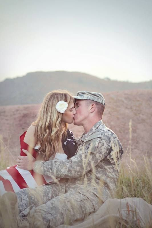 Military Engagement Picture, Army engagement picture, engagement picture with American flag, simple and sweet engagement, army love, army strong, military love, Kristin and Greg
