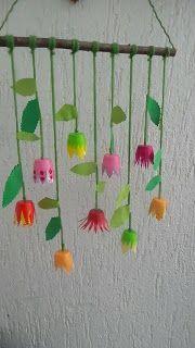 Kita - Ideenkiste! Nicht nur für ErzieherInnen!: Frühlingsblumen-Deko aus Kunststoffbechern