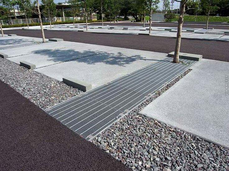 2781 best street scape design images on pinterest public for Landscape drainage design