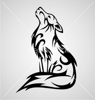 Wolf tribal vector by iwant61 on VectorStock®