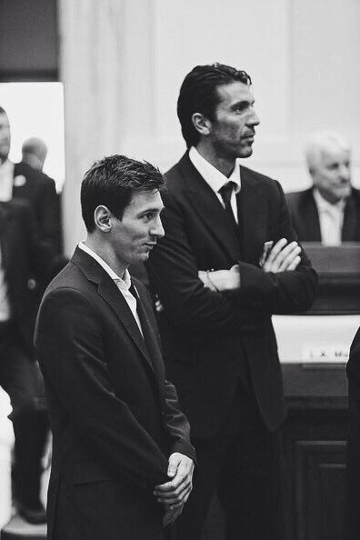 Gianluigi Buffon and Lionel Messi.