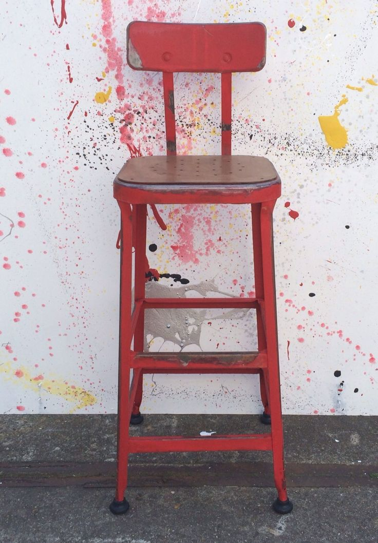 Paint it Red - #art #red #barstool #spoor38 #styling #industrial #decoration #bar #restaurant #hotel