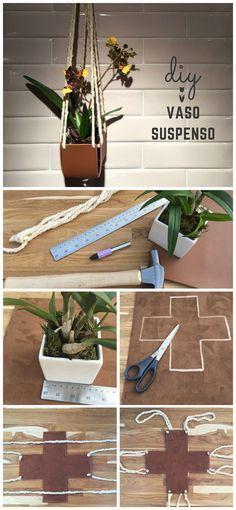 Mais um post da série de DIY em couro. Neste você irá aprender a fazer um vaso suspenso com couro e fio de lã crú. Passo a passo simples e fácil.