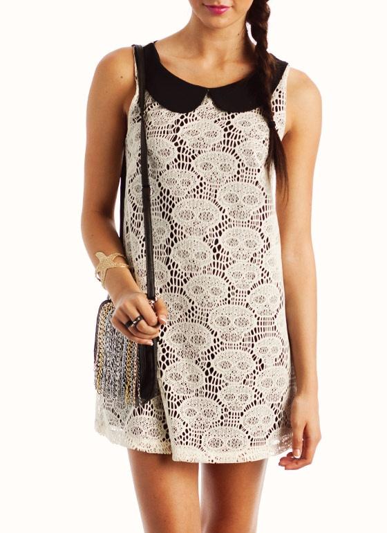 Crocheted skull dress