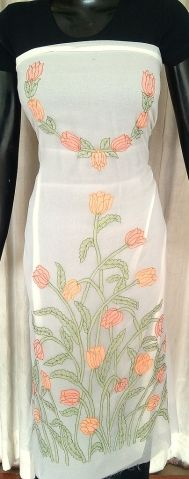 This absolutely gorgeous hand embroidered kurta piece is on semi georgette fabric, and has intricate shadow work embroidery in a lovely, feminine, floral pattern. Team it up with a plain bottom and dupatta, and become the cynosure of all eyes - See more at: http://giftpiper.com/Georgette-Kurta-Handembroidered-Shadow-Work-Offwhite-id-734822.html