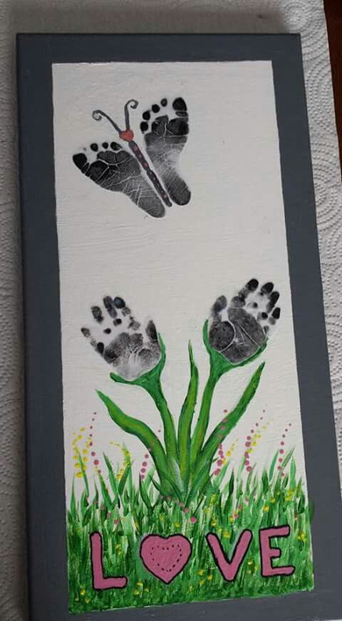 Butterfly feet hand flowers