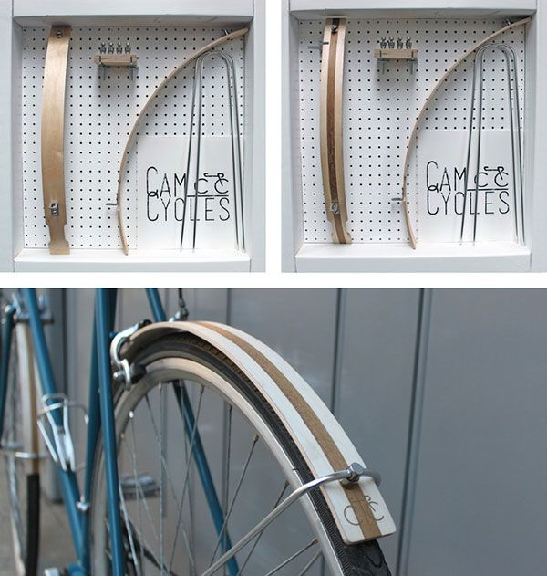 Cam Cycle's wooden mudguards may be handcrafted with traditional technique but they're nothing short of hardy. Composed of waterproofed aircraft-grade plywood, high-grade stainless steel mounting hardware and optional leather mudflaps, they'll add both beauty and brawn to your weather-ready ride.