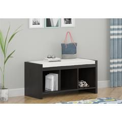 Entryway Storage Bench with Cushion - Espresso - Kmart