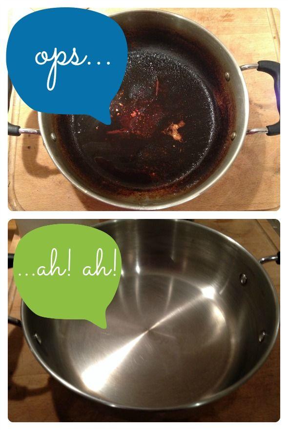Qualche giorno fa, per colpa di Pinterest (!!), ho bruciato una pentola e la cena che conteneva! Dopo aver cercato disperatamente una soluzione veloce per la