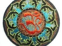 blau Om Symbol Lotus Hindu Meditation spirituell S