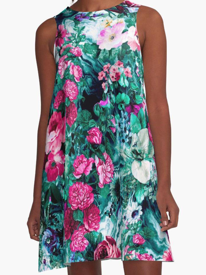 Secret Heaven II by RIZA PEKER #fashion #dresses #blue #shopping #onsale #floral #summer #streetfashion #redbubble