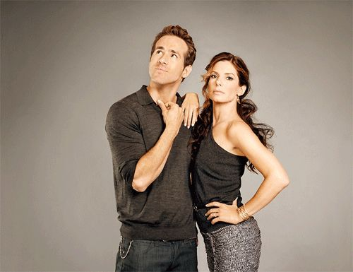 Ryan Reynolds and Sandra Bullock in a photoshoot for The Proposal.